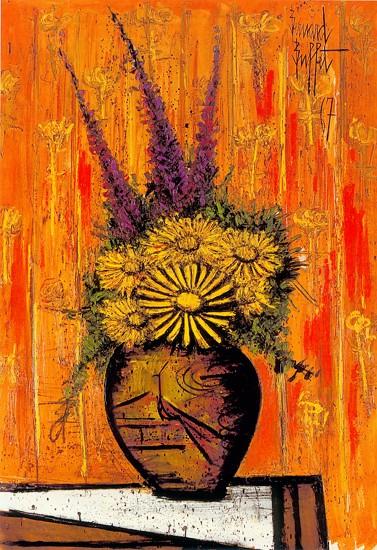 Bouquet au vase chinois, 1967 - Bernard Buffet