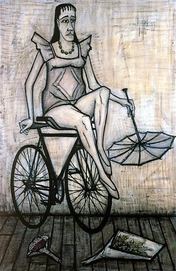 Le cirque: Acrobate à la bicyclette, 1955 - Bernard Buffet