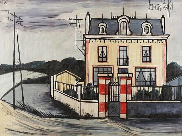maison dans la campagne 1982 bernard buffet. Black Bedroom Furniture Sets. Home Design Ideas