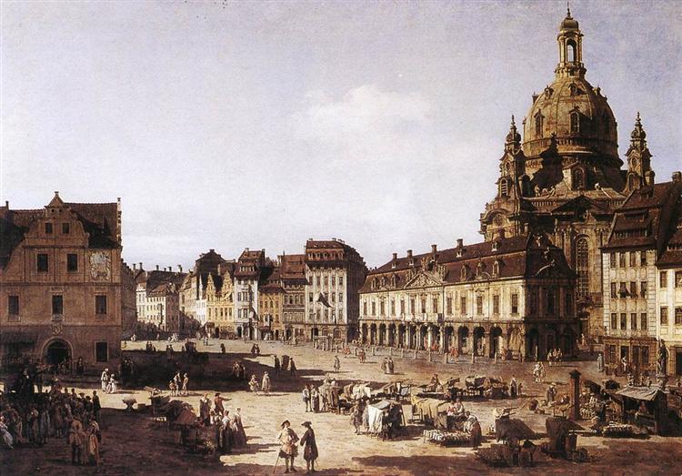 New Market Square in Dresden, 1750 - Бернардо Беллотто