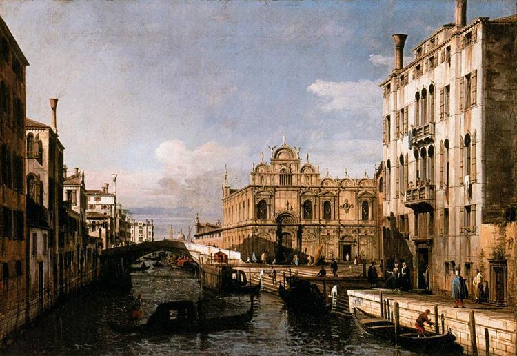 Rio dei Mendicanti and the Scuola di San Marco, 1738 - Бернардо Беллотто