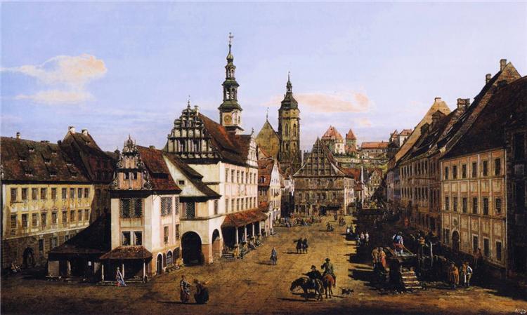 The Marketplace at Pirna, c.1760 - Bernardo Bellotto