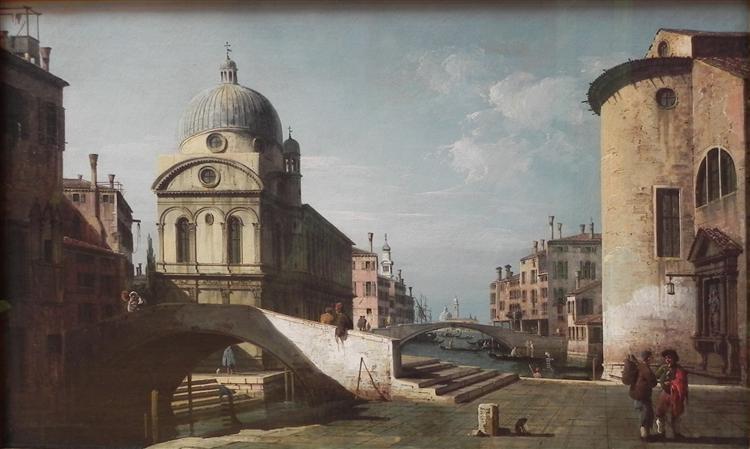 Venetian Capriccio, View of Santa Maria dei Miracoli, c.1740 - Бернардо Беллотто