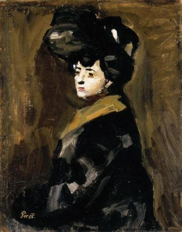 Mulher de Chapéu, 1905 - Bertalan Por