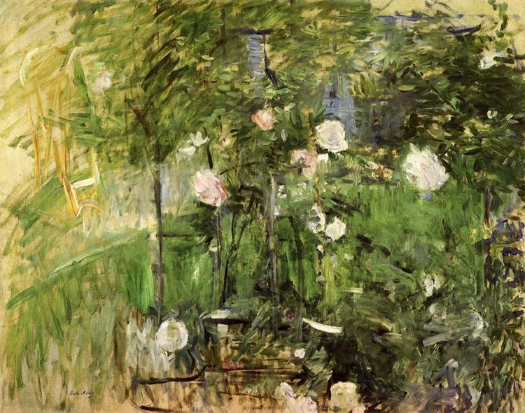 A Corner of the Rose Garden, 1885 - Берта Морізо