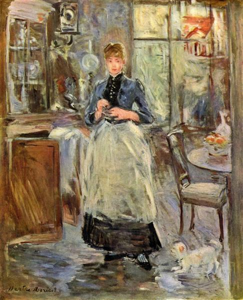 In the Dining Room, c.1875 - Берта Моризо