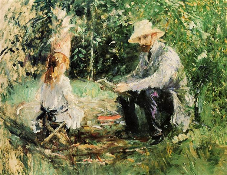 Julie and Eugene Manet, 1883 - Berthe Morisot