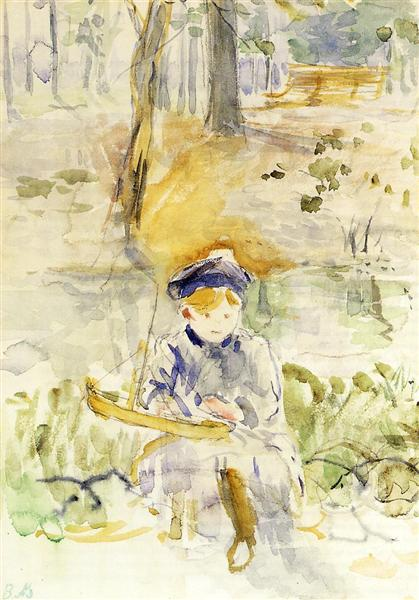 Julie and Her Boat, 1884 - Berthe Morisot