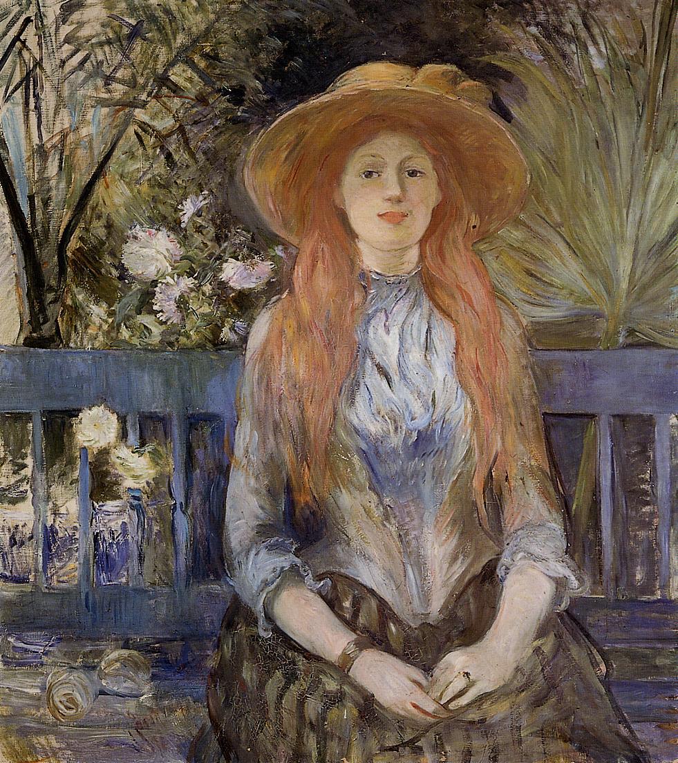 On a Bench, 1889 - Berthe Morisot - WikiArt.org