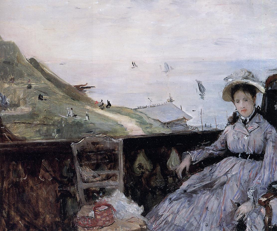 On the terrace berthe morisot for On the terrace