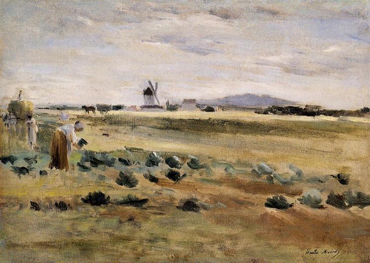 The Little Windmill at Gennevilliers, 1875 - Берта Моризо