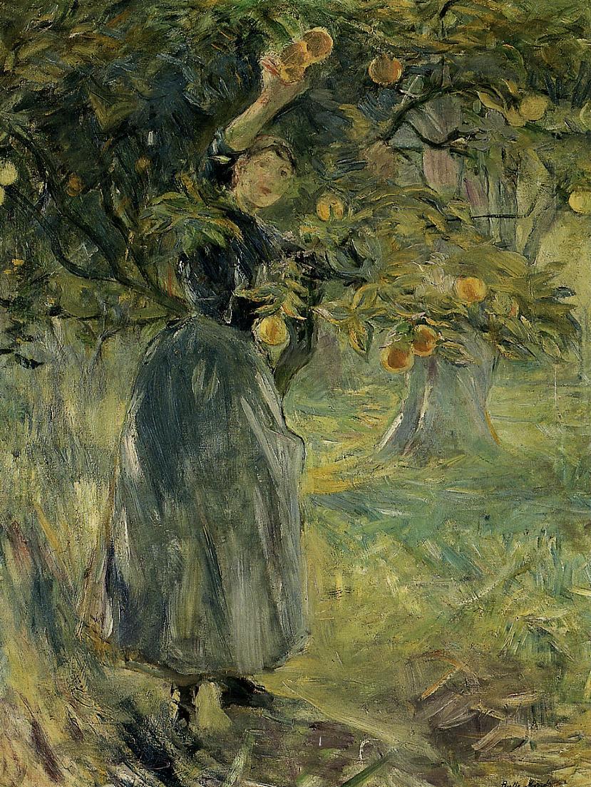 The Orange Picker, 1889 - Berthe Morisot - WikiArt.org