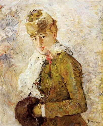 Winter (aka Woman with a Muff) - Berthe Morisot