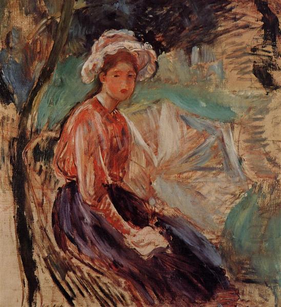 Young Girl with an Umbrella, 1893 - Berthe Morisot