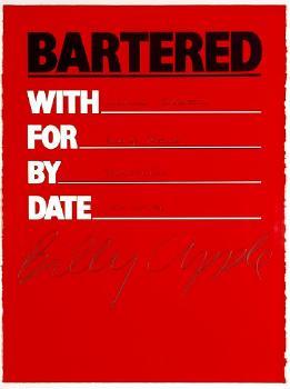 Bartered, 1986 - Billy Apple