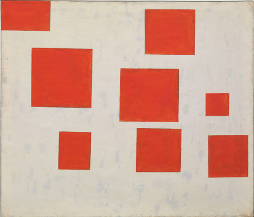 Komposition mit 8 roten Rechtecken (Composition with 8 Red Rectangles), 1964 - Blinky Palermo