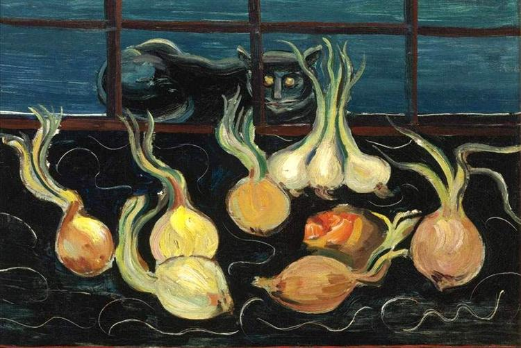Still Life with Cat and Onions, 1928 - Boris Grigoriev