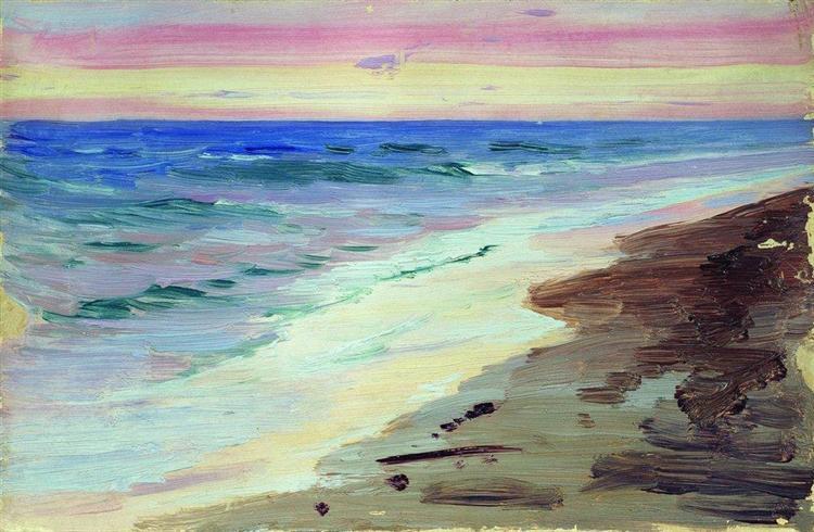 Sunset - Boris Kustodiev