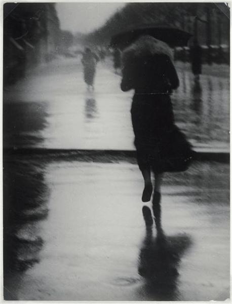 Passerby in the Rain, 1935 - Brassai