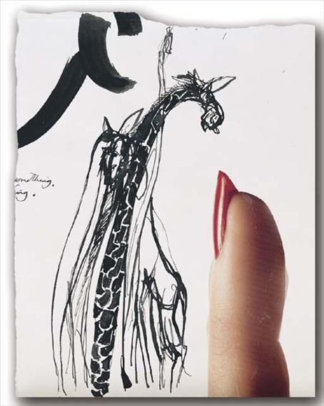 Giraffes and Finger - Brett Whiteley