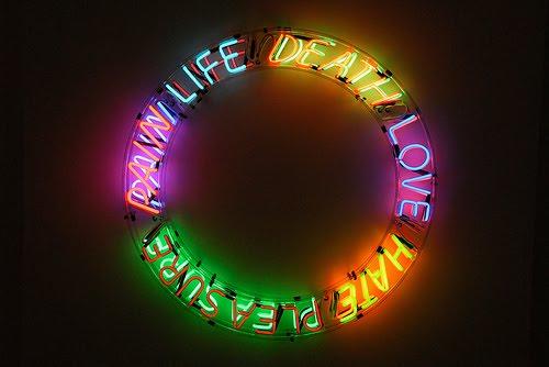 Life Death Love Hate Pleasure Pain, 1983 - Bruce Nauman