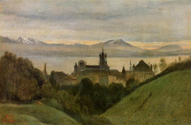 Between Lake Geneva and the Alps - Camille Corot
