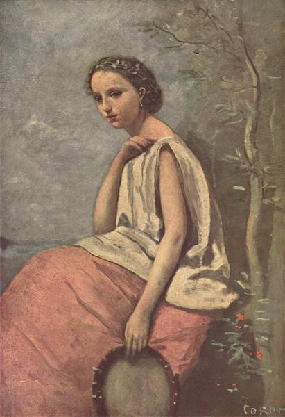 La Zingara, c.1865 - c.1870 - Camille Corot