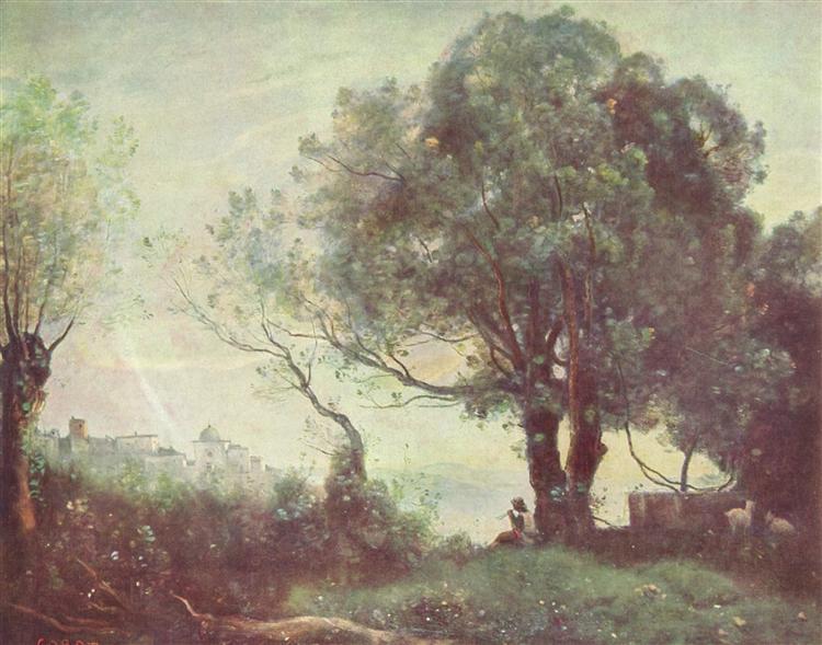 Landscape at Castel Gandolfo, c.1870 - Camille Corot