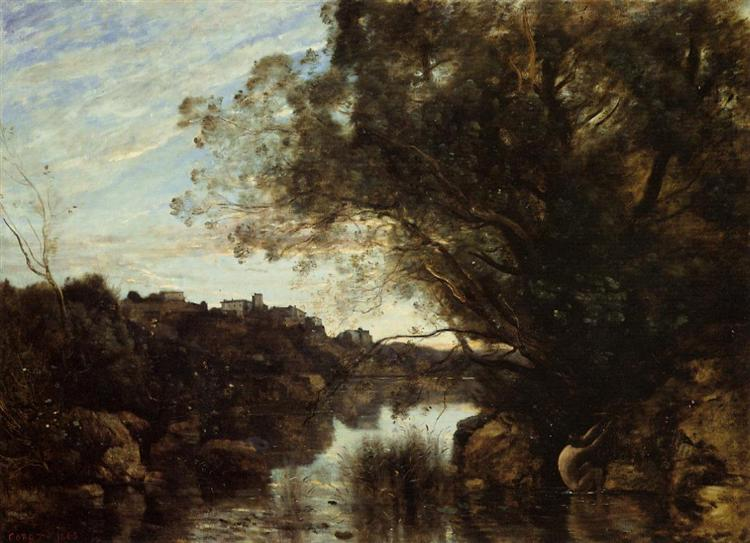 Souvenir of the Lake Nemi Region, 1865 - Camille Corot