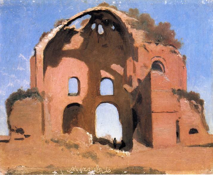 Temple of Minerva Medica, 1826 - Camille Corot