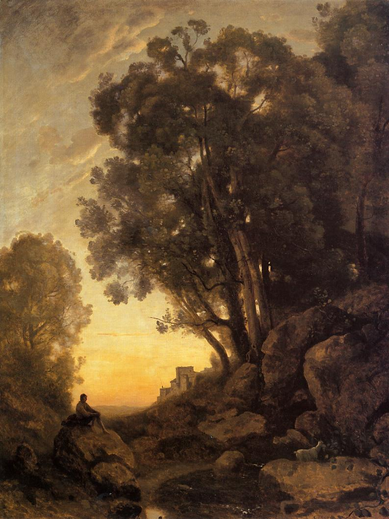 The italian goatherd camille corot for Camille corot
