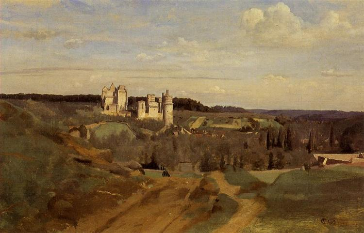View of Pierrefonds, c.1834 - Camille Corot