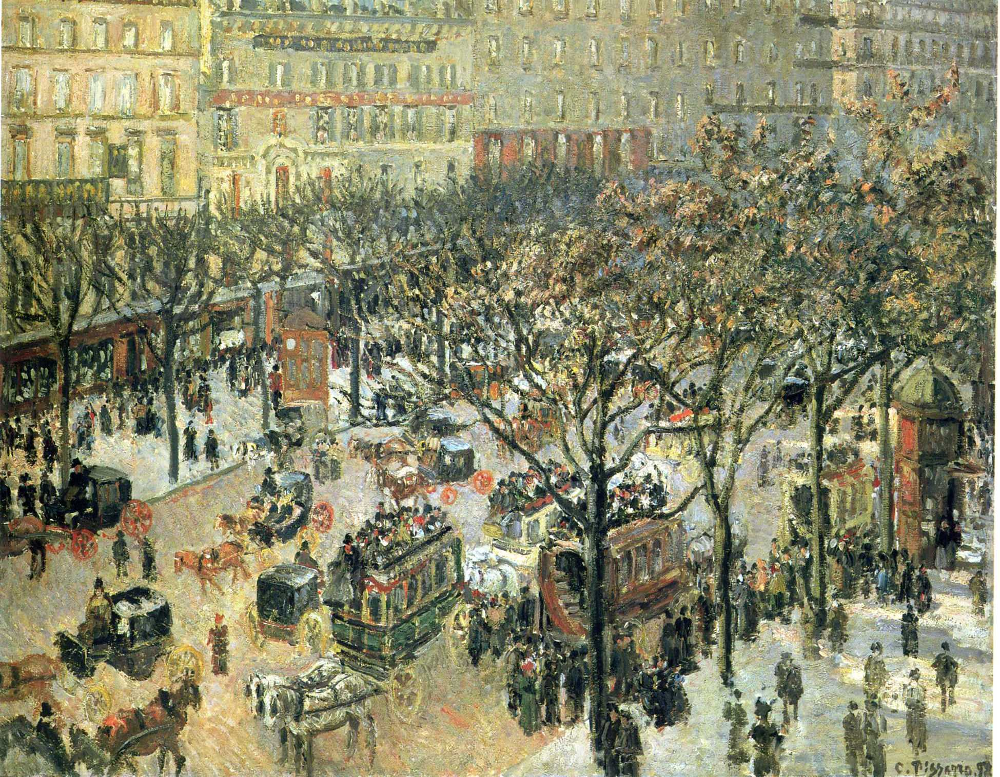 boulevard des italiens morning sunlight 1897 camille pissarro. Black Bedroom Furniture Sets. Home Design Ideas