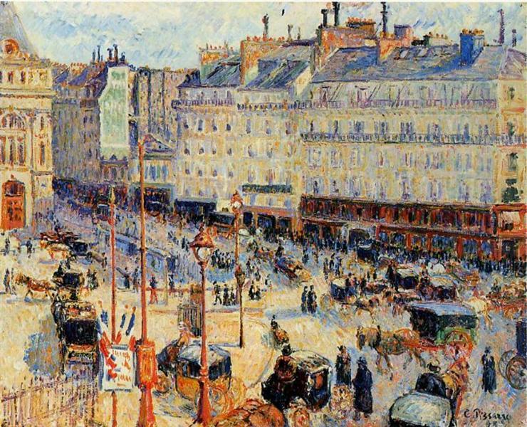 Place du Havre, Paris, 1893 - Камиль Писсарро
