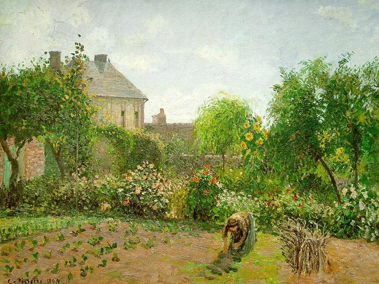 The Artist's Garden at Eragny, 1898 - Camille Pissarro