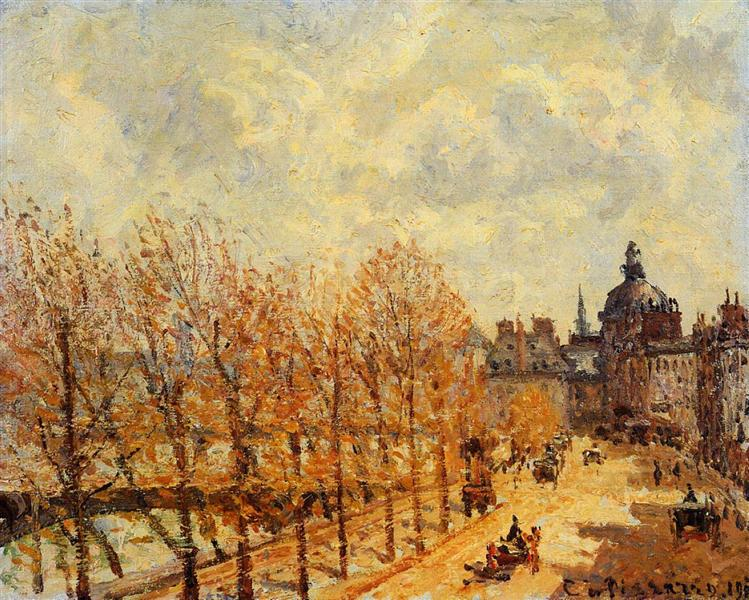 The Malaquais Quay in the Morning, Sunny Weather, 1903 - Camille Pissarro