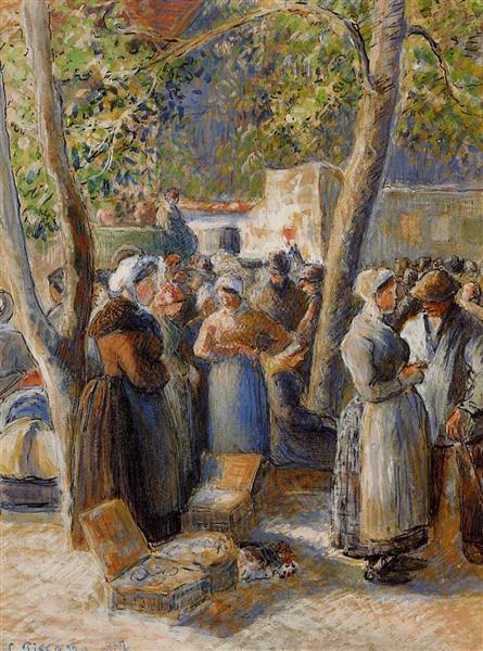 The Market in Gisors, 1887 - Camille Pissarro