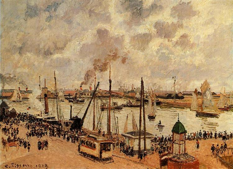 The Port of Le Havre, 1903 - Каміль Піссарро