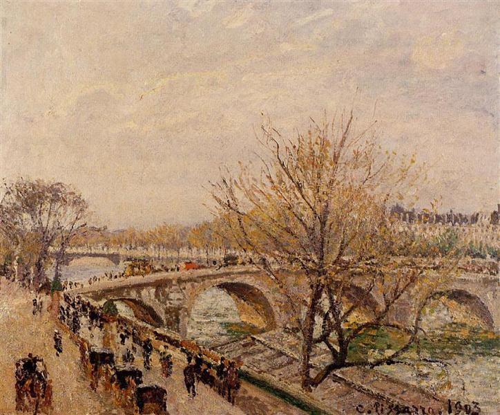 The Seine at Paris, Pont Royal, 1903 - Камиль Писсарро