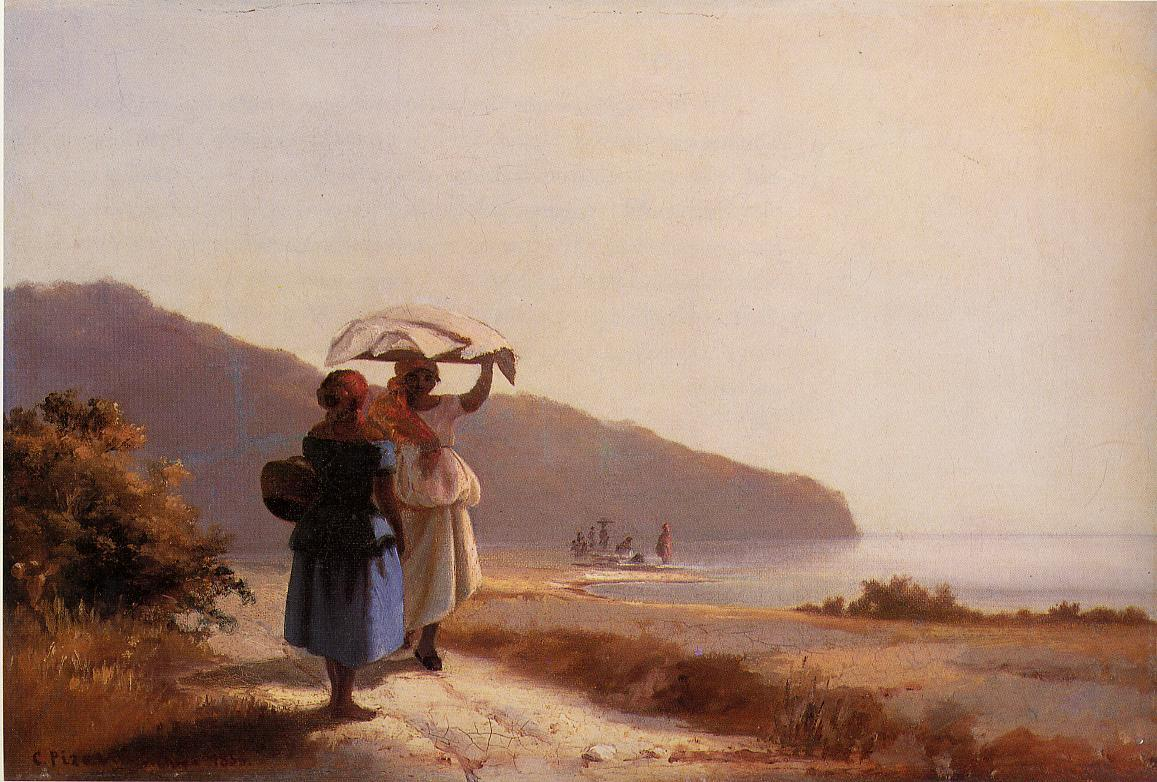 Two Woman Chatting by the Sea, St. Thomas, 1856