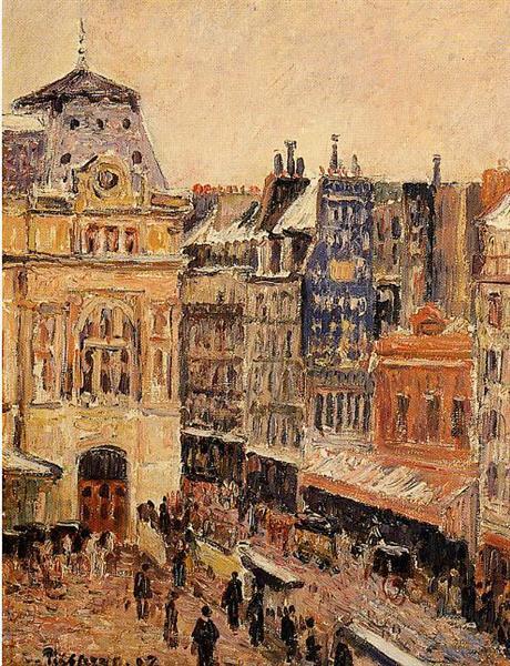 View of Paris, Rue d'Amsterdam, 1897 - Камиль Писсарро