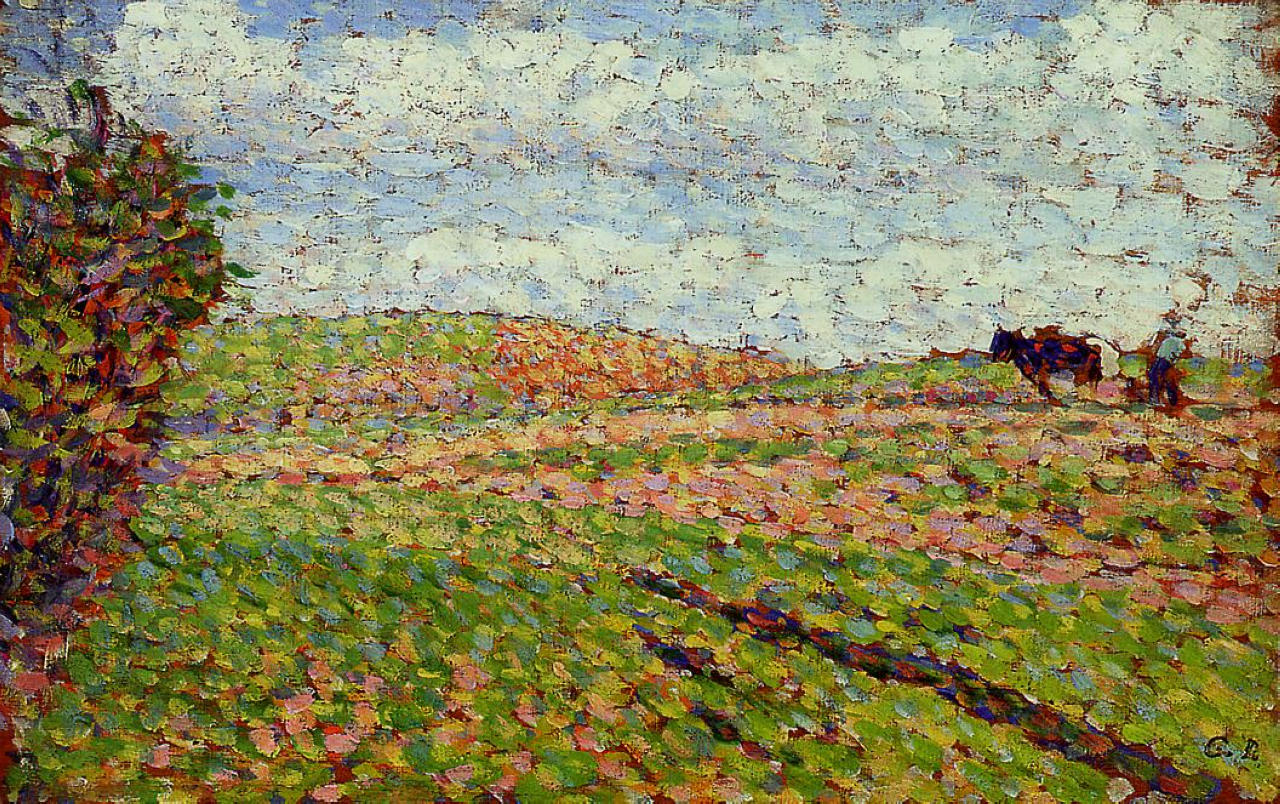 working at eragny c1886 camille pissarro wikiartorg