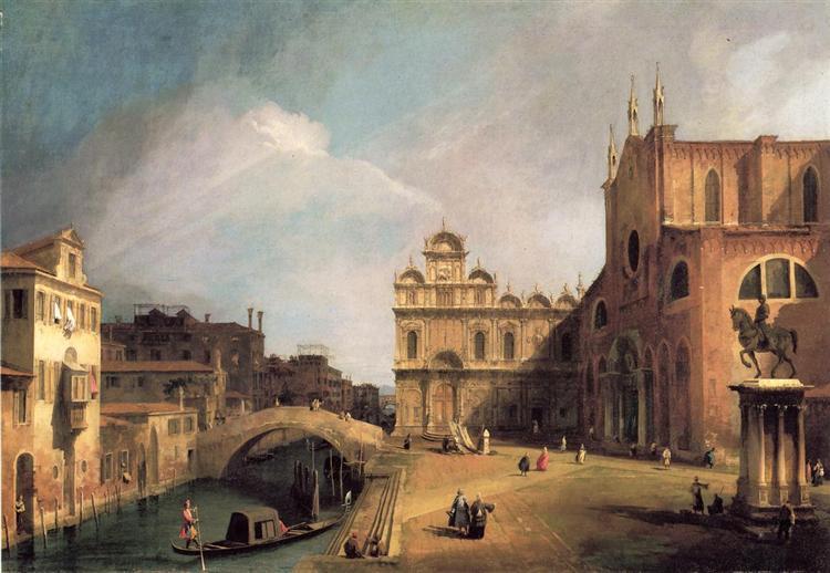 Santi Giovanni e Paolo and the Scuola di San Marco, 1726 - Canaletto