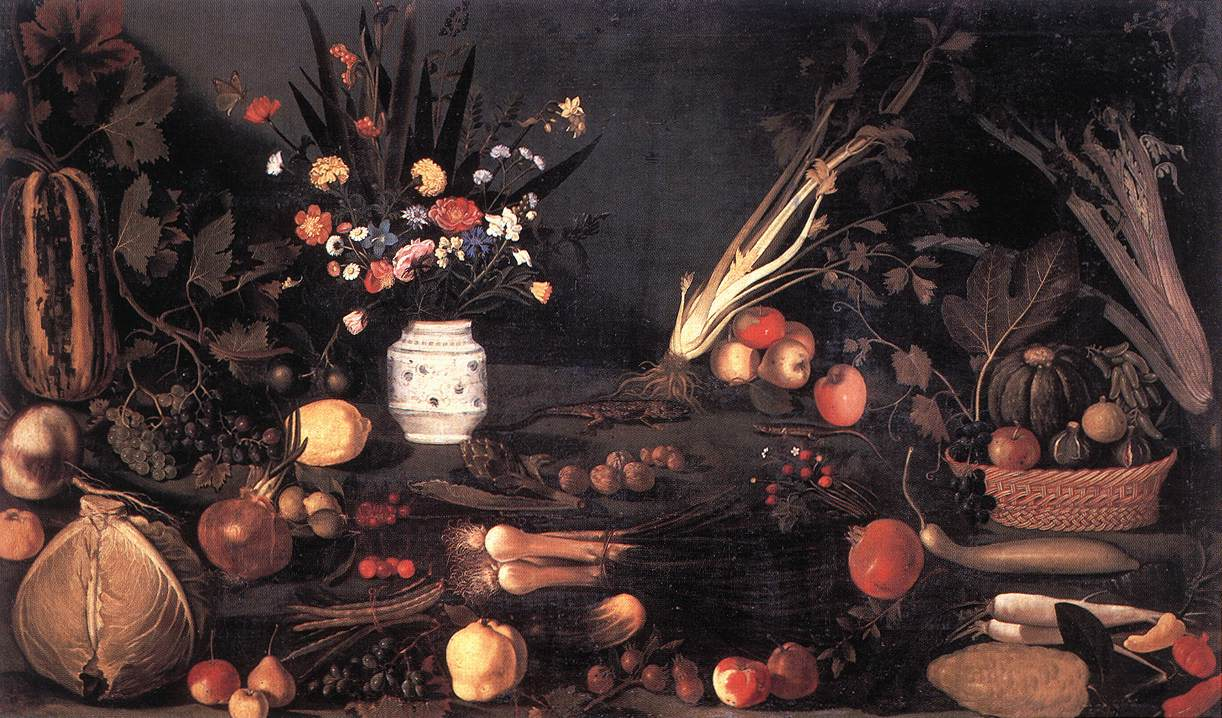 Still Life with Flowers and Fruit, 1601 - Caravaggio - WikiArt.org