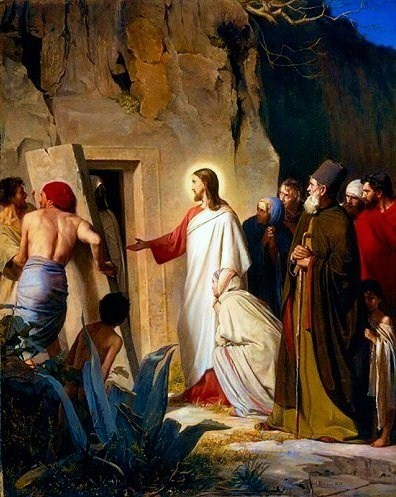 Raising of Lazarus, 1870 - Карл Блох