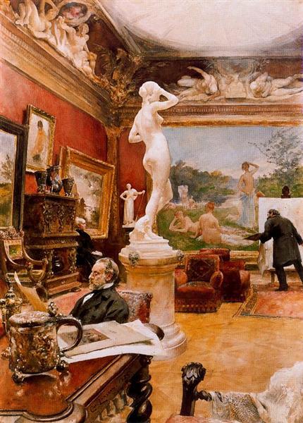Interior of the gallery Furstengerg in Gooteborg, 1885 - Карл Ларссон