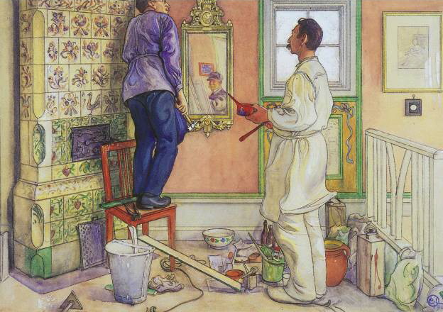 My friends, the Carpenter and the Painter, 1909 - Carl Larsson