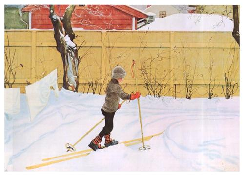 The Skier - Carl Larsson