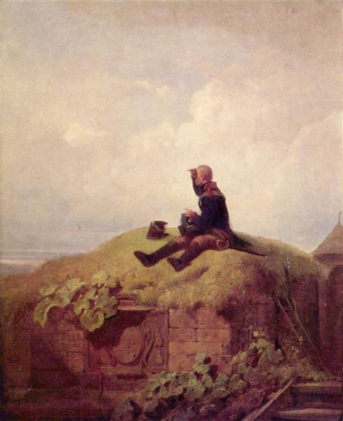 Once upon a time (the knitting outpost), c.1850 - Carl Spitzweg