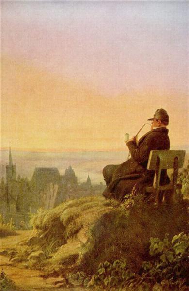 Resting on the Vine, c.1845 - Carl Spitzweg